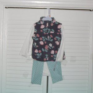Carter's 3 Piece Set 12 Mos New With Tags Adorable